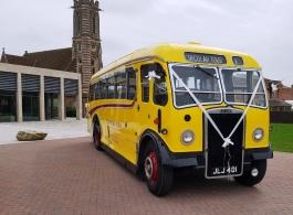 Vintage bus for weddings in Worcester